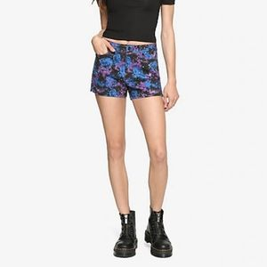 NWT Blue Galaxy Skinny Shorts
